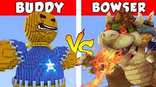 KICK THE BUDDY vs BOWSER – PvZ vs Minecraft vs Smash