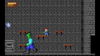 Dangerous Dave in the Haunted Mansion - Level 4 - First Boss (1991) [PC] [MS-DOS]