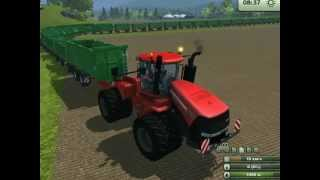 Repeat youtube video Road train Farming Simulator 2013/ Автопоезд из 26 прицепов.