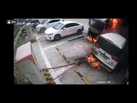 China electric vehicle  explode while charging