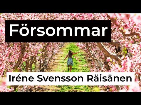 FÖRSOMMAR diktvideo av författaren Iréne Svensson Räisänen