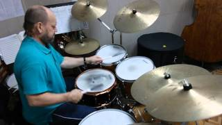соло на барабанах solo on drums  BRUSHES -  Игра Щетками