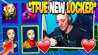 Tfue Shows *NEW* LOCKER with ALL GIFTED SKINS (Munition Expert, Reflex Skin) in Fortnite
