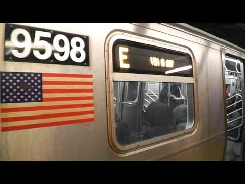 IND Sixth Avenue Line: Queens-bound R160A E Local Train@34th Street/Herald Square