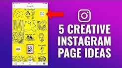 5 Creative Instagram Feed Page Ideas & Examples