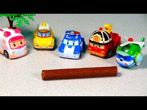 РОБОКАР ПОЛИ Спасение Кэпа игрушки-машинки робокары видео для детей. Robocar POLI toys