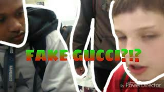 Kid gets exposed for wearing fake Gucci!