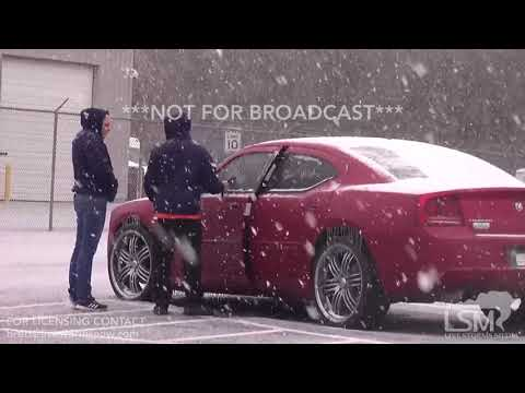 1-3-2018 Waycross, Ga Heavy Snow falls as accumulations begin adding up Drone & Ground