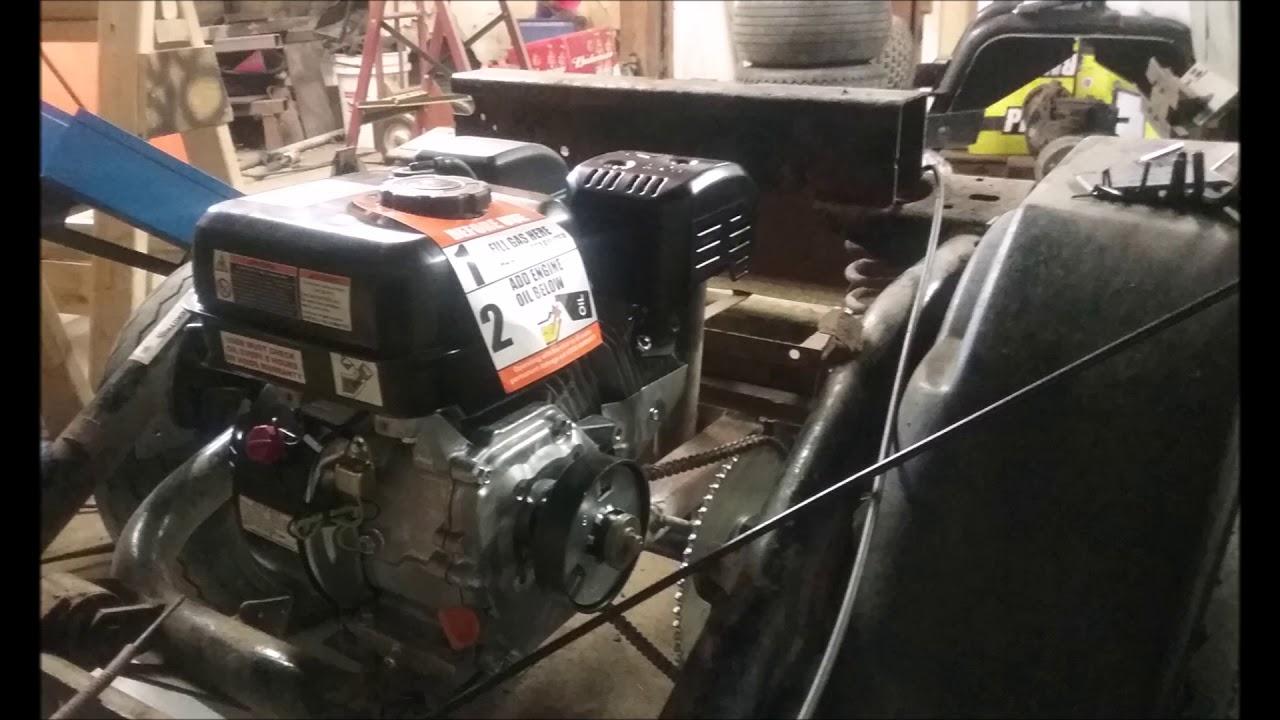 Golf Cart Engine Swap Hf 6 5 Hp Youtube
