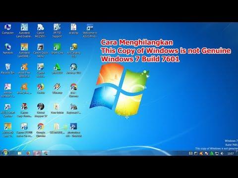 Cara Mengatasi layar Komputer Windows 7 Build 7601, This Copy Of Windows is Not Genuine.