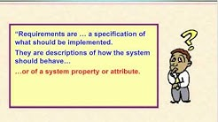 Video 1 - What is a Requirement