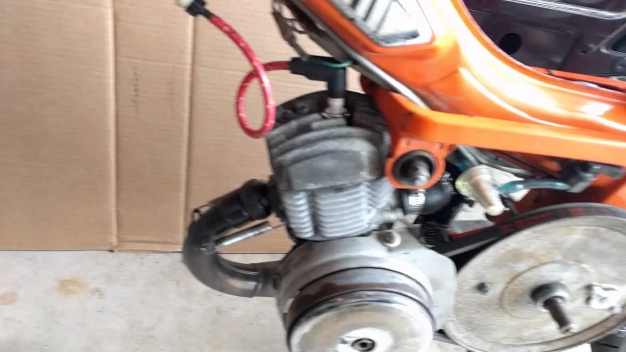 motobecane moped original coil spark plug wire fix [ 1280 x 720 Pixel ]