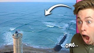 Wenn du quadratische Wellen siehst, geh SOFORT aus dem Wasser!