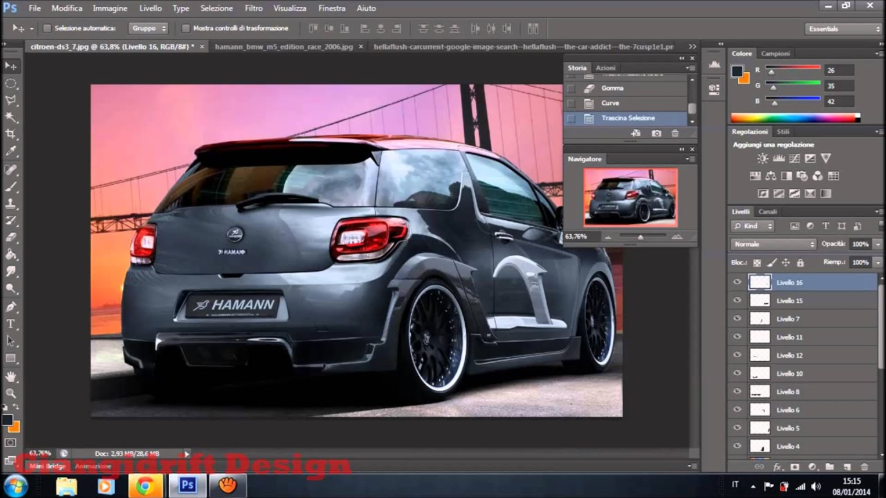 citroen ds3 hamann virtual tuning photoshop youtube. Black Bedroom Furniture Sets. Home Design Ideas