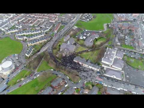 Martin McGuinness Funeral aerial footage