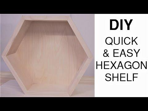 DIY How To Make a Modern $5 Hexagon Shelf