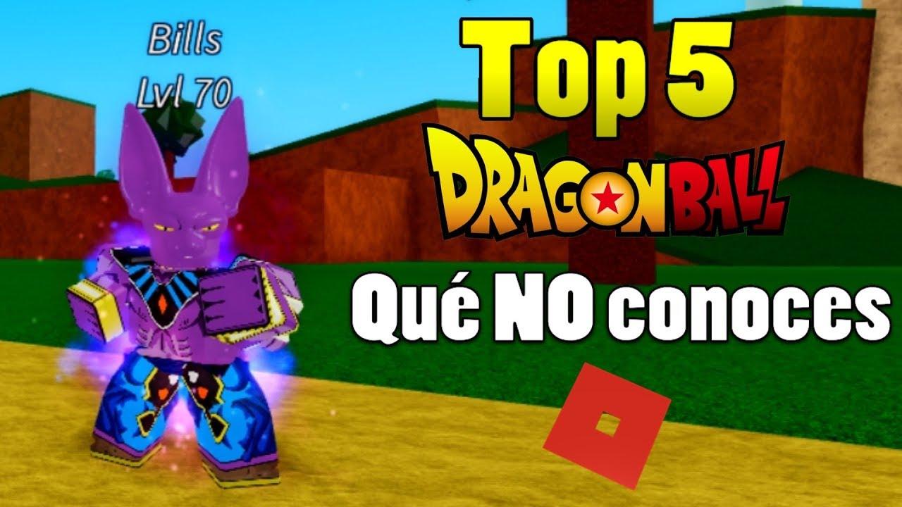 Top 5 Dragon Ball Que No Conoces En Roblox Youtube - top 5 juegos que quizas no conocias y son increibles de roblox