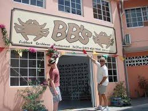 Lunch with Ingram Jones at BB's Crabback, Grenada, West Indies