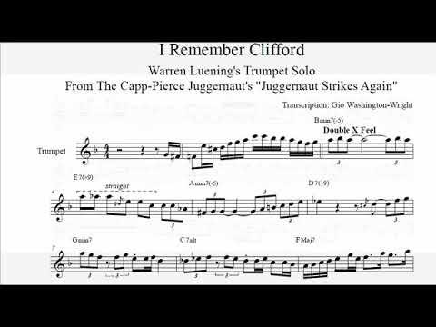 "Warren Luening's trumpet solo on ""I Remember Clifford"" [TRANSCRIPTION]"