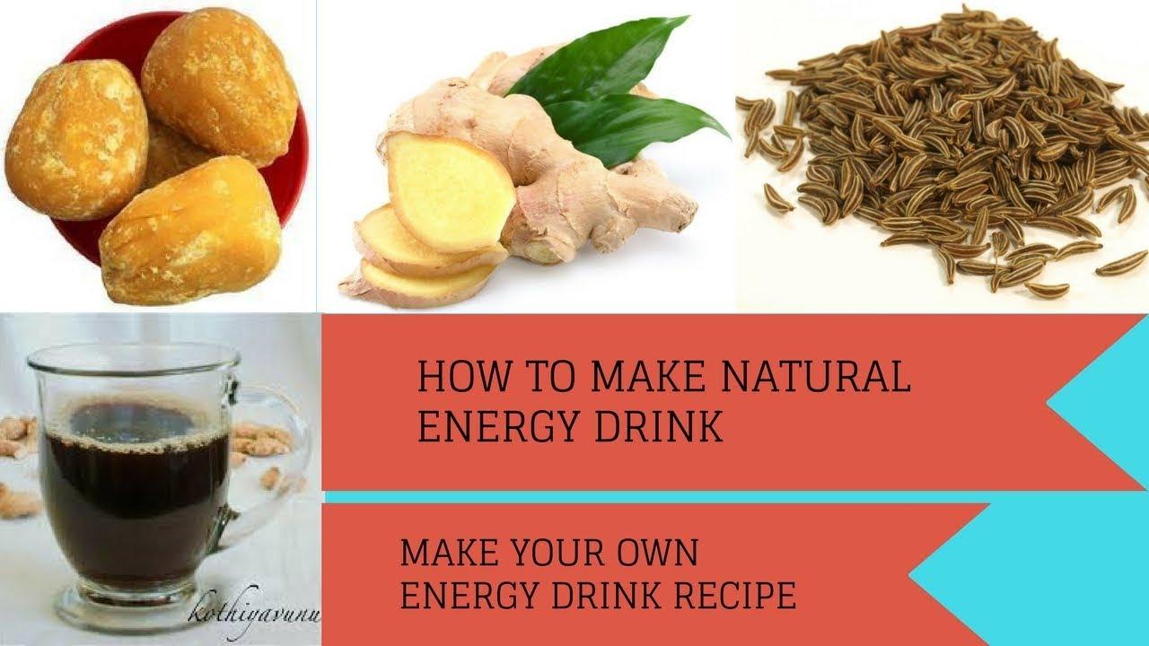 energi shot recept