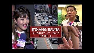 UNTV: Ito Ang Balita (August 17, 2018) PART 1
