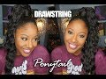 "No Glue!! Best Deep Wave Drawstring 30"" HIGH Ponytail Review & SLEEK Undetectable Install!"