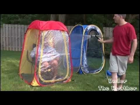 soccer mom covered chairs round table 6 garden how to use the under weather outdoor sports tent youtube