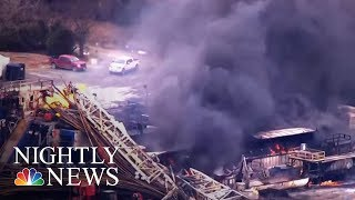 Frantic Search For Missing Workers After Oil Rig Explodes | NBC Nightly News