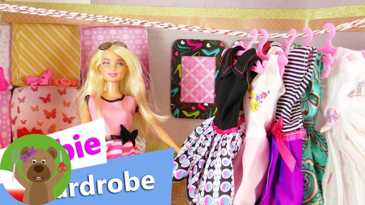 DIY Barbie   ozdabianie szafy dla lalki Barbie  