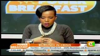 Power Breakfast: Burundi Crisis