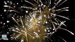 St. Goar   Rhein in Flammen - 45 minütiges Feuerwerk vom Rhein, von Burg Katz und Burg Rheinfels