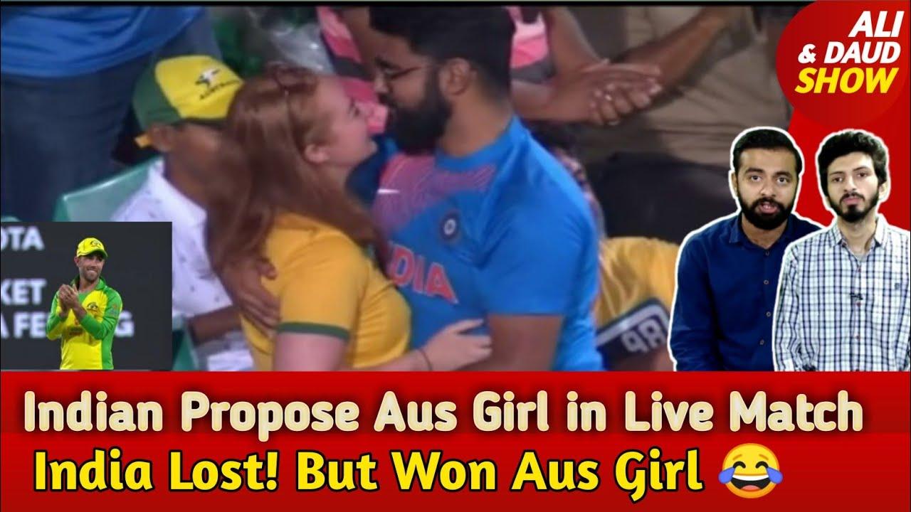 Aus Won Series! INDIA Won Australian Girl   Maxwell Crazy Reaction on Indian Boy Propose Aus Girl