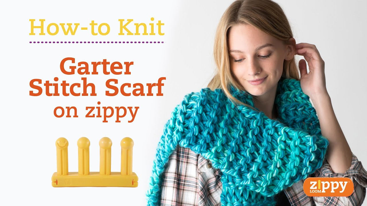 Zippy Loom - Scarf knit in 20 minutes - YouTube