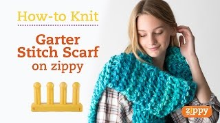 Zippy Loom - Scarf knit in 20 minutes