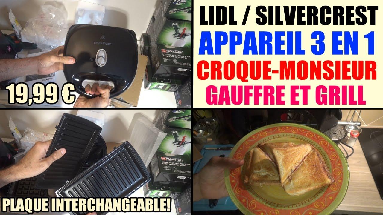 appareil à croque-monsieur lidl silvercrest gaufre et grill ssmw 750 b2  test avis - YouTube e55f94c785d6