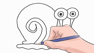 How to Draw Gary Easy Step by Step