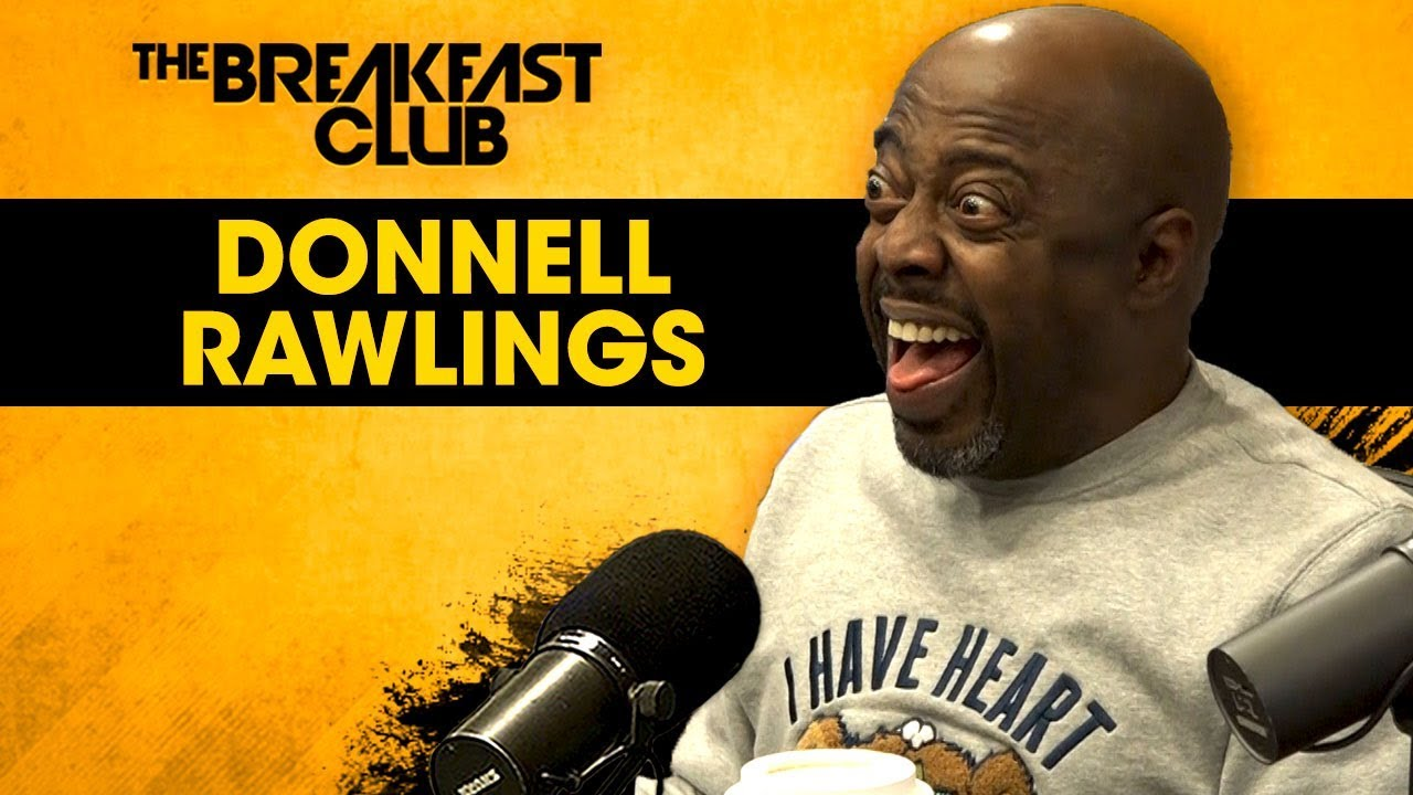 Donnell Rawlings Presents His New Paper Book To The Breakfast Club