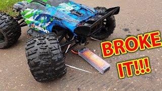 Traxxas E-Revo VS X-Maxx BROKE IT in 30 Seconds!!!