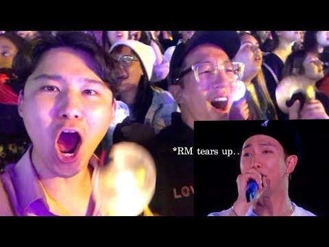 KOREANS FIRST BTS CONCERT IN AMERICA LA ROSE BOWL  SPEAK YOURSELF TOUR