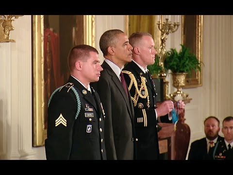 President Obama Awards Sgt. Kyle J. White the Medal of Honor fragman