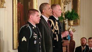 President Obama Awards Sgt. Kyle J. White the Medal of Honor