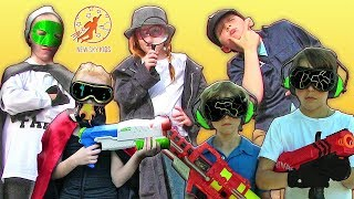 Little Heroes Super Episode - Nerf Wars, Fires and the Kid Detectives
