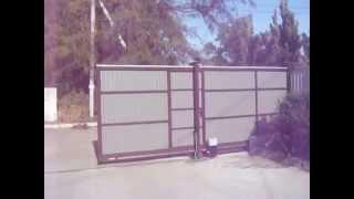 Автоматические откатные ворота в Херсоне, автоматика FAAC 844.(Автоматические ворота в Херсоне и Херсонской области, гаражные секционные ворота, шлагбаумы, автоматика..., 2014-10-07T10:40:53.000Z)