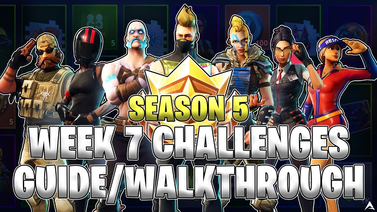ALL WEEK 7 BATTLE PASS CHALLENGES! (Fortnite Battle Royale ...