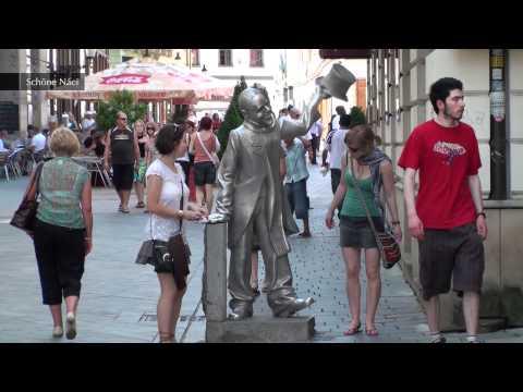 Interesting Statues - Bratislava, Slovakia (Full HD)