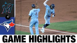 Travis Shaw walks off in 5-4 win | Marlins-Blue Jays Game Highlights 8/11/20