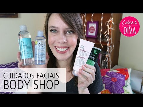Produtos e preços das linhas de cuidados faciais Body Shop