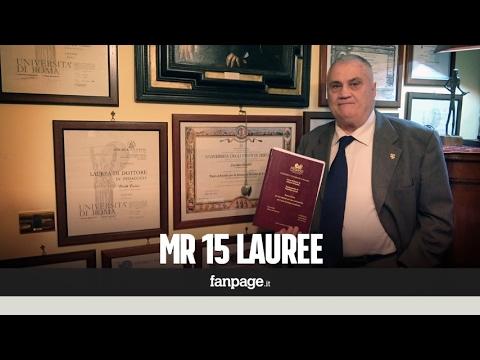 Ha 70 anni e 15 lauree: la storia di Luciano, l'uomo più istruito al mondo