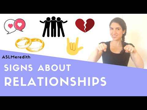 Learn ASL: How to Sign About Relationships in American Sign Language for Beginners