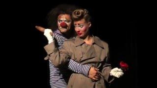 "Ученики театра ""Лицедеи"",  клоун-мим-театр ""МИМЕЛАНЖ"", отрывок номера ""БЕССАМЕ"""